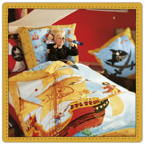 bierbaum bettw sche capt 39 n sharky hai marine 135x200 cm ebay. Black Bedroom Furniture Sets. Home Design Ideas